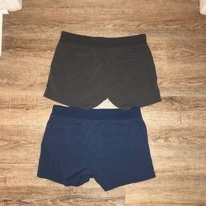 Athleta Womens Workout Shorts 2-Pack Size 14